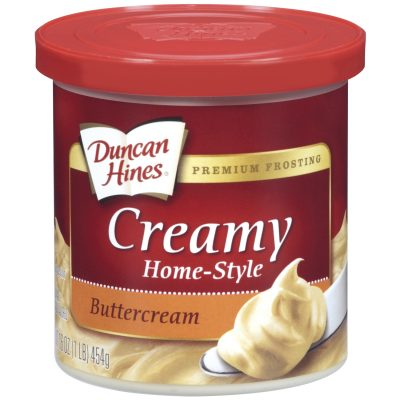 Duncan Hines® Buttercream Creamy Home-Style Frosting 16 oz. Canister