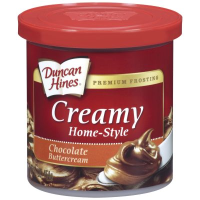 Duncan Hines® Chocolate Buttercream Creamy Home-Style Frosting 16 oz. Canister