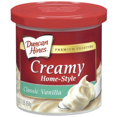 Duncan Hines® Classic Vanilla Creamy Home-Style Frosting 16 oz. Canister