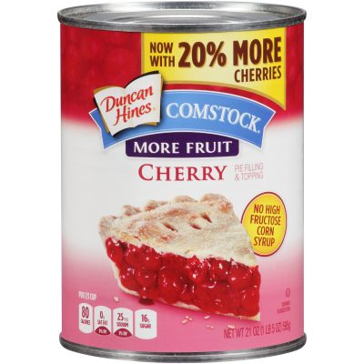 Duncan Hines® Comstock® More Fruit Cherry Pie Filling & Topping 21 oz. Can