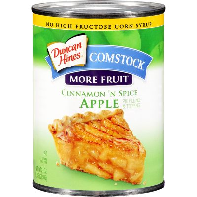 Duncan Hines® Comstock® More Fruit Cinnamon 'N Spice Apple Pie Filling & Topping 21 oz. Can