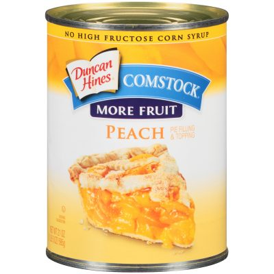 Duncan Hines® Comstock® More Fruit Peach Pie Filling & Topping 21 oz. Can