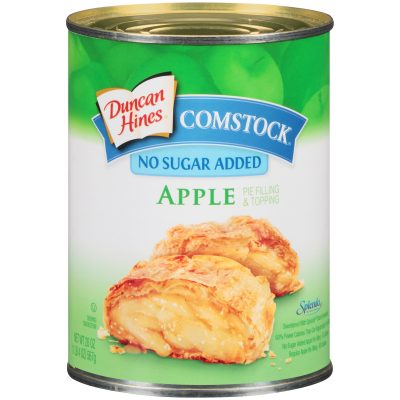 Duncan Hines® Comstock® No Sugar Added Apple Pie Filling & Topping 20 oz. can