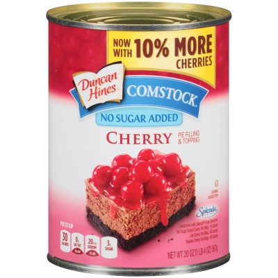 Duncan Hines® Comstock® No Sugar Added Cherry Pie Filling & Topping 20 oz. Can