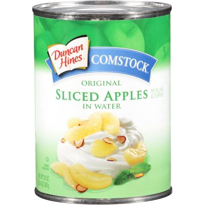 Duncan Hines® Comstock® Original Sliced Apples in Water Pie Filling & Topping 20 oz. Can
