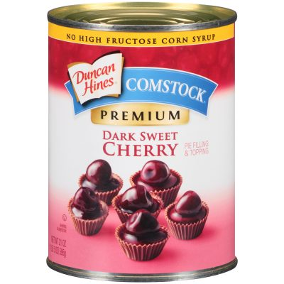 Duncan Hines® Comstock®  Premium Dark Sweet Cherry Pie Filling & Topping 21 oz. Can