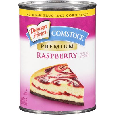 Duncan Hines® Comstock® Premium Raspberry Pie Filling & Topping 21 oz. Can