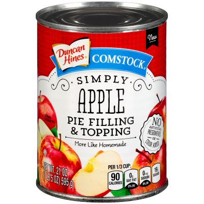 Duncan Hines® Comstock® Simply Apple Pie Filling & Topping 21 oz. Can