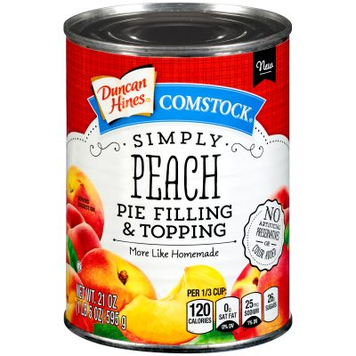 Duncan Hines® Comstock® Simply Peach Pie Filling & Topping 21 oz. Can