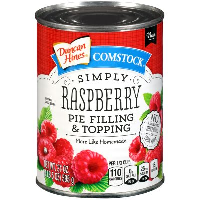Duncan Hines® Comstock® Simply Raspberry Pie Filling & Topping 21 oz. Can