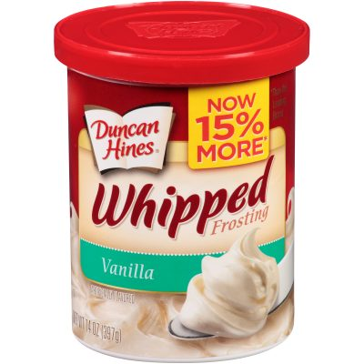 Duncan Hines® Vanilla Whipped Frosting 14 oz. Canister