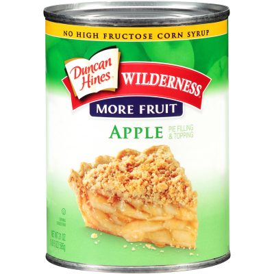 Duncan Hines® Wilderness® More Fruit Apple Pie Filling & Topping 21 oz. Can