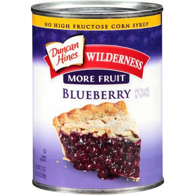 Duncan Hines® Wilderness® More Fruit Blueberry Pie Filling & Topping 21 oz. Can