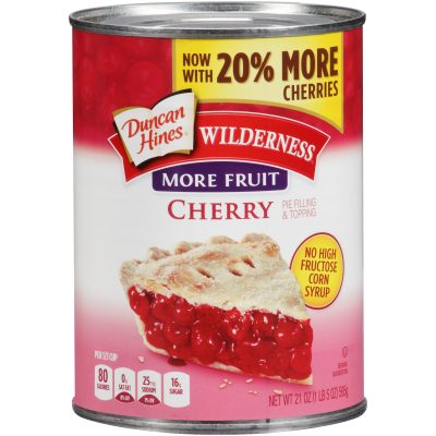 Duncan Hines® Wilderness® More Fruit Cherry Pie Filling & Topping 21 oz. Can