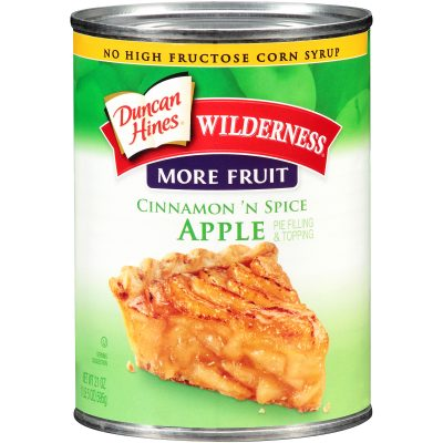 Duncan Hines® Wilderness® More Fruit Cinnamon 'n Spice Apple Pie Filling & Topping 21 oz. Can