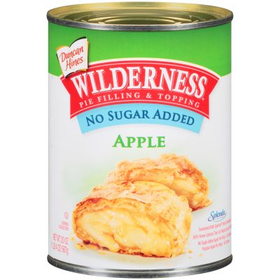 Duncan Hines® Wilderness® No Sugar Added Apple Pie Filling & Topping 20 oz. Can