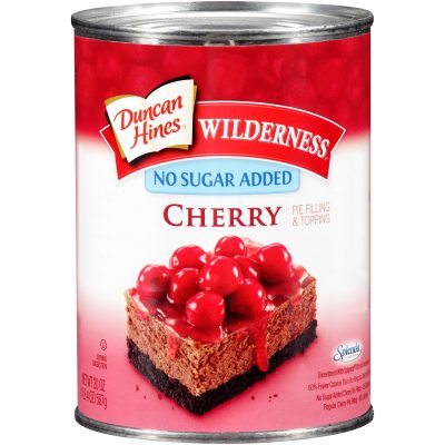 Duncan Hines® Wilderness® No Sugar Added Cherry Pie Filling & Topping 20 oz. Can