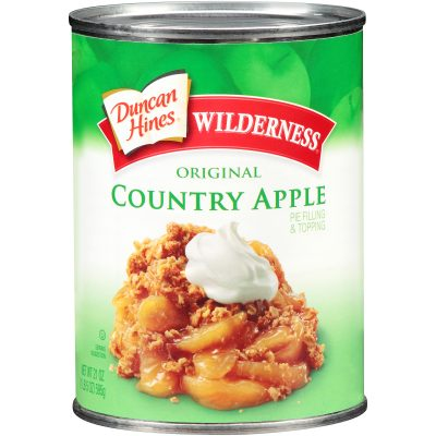 Duncan Hines® Wilderness® Original Country Apple Pie Filling & Topping 21 oz. Can