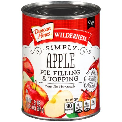 Duncan Hines® Wilderness® Simply Apple Pie Filling & Topping 21 oz. Can