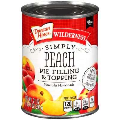 Duncan Hines® Wilderness® Simply Peach Pie Filling & Topping 21 oz. Can