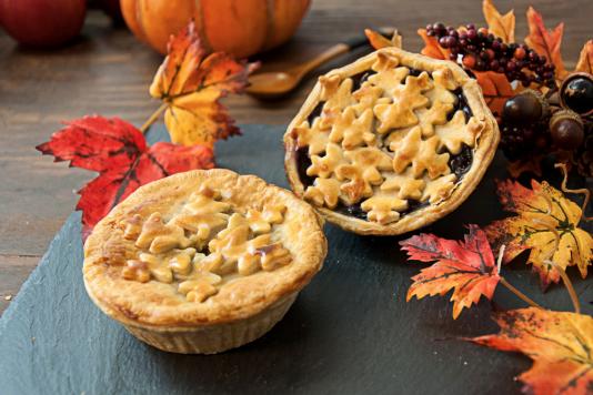 Autumn Blueberry Pie