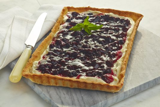 Blueberry & White Chocolate Tart