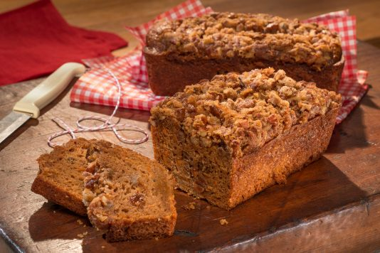 Carrot & Apple Mini Loaves with Pecan Crumble